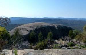 Easterly view of Mt Pilot range